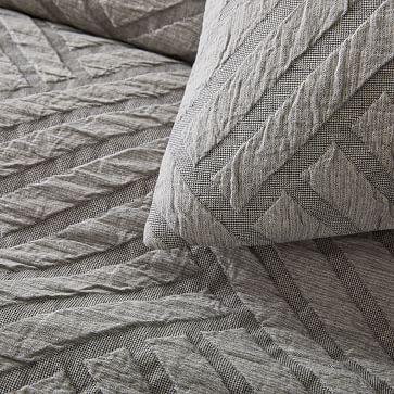 Parquet Texture Duvet, King/Cal. King, White
