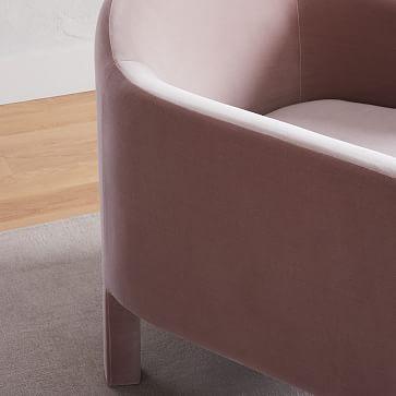 Isabella Upholstered Chair, Poly, Astor Velvet, Dijon