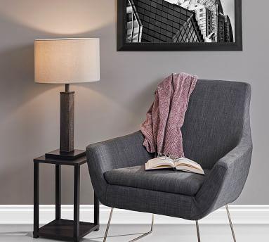 Arete Metal Table Lamp, Black