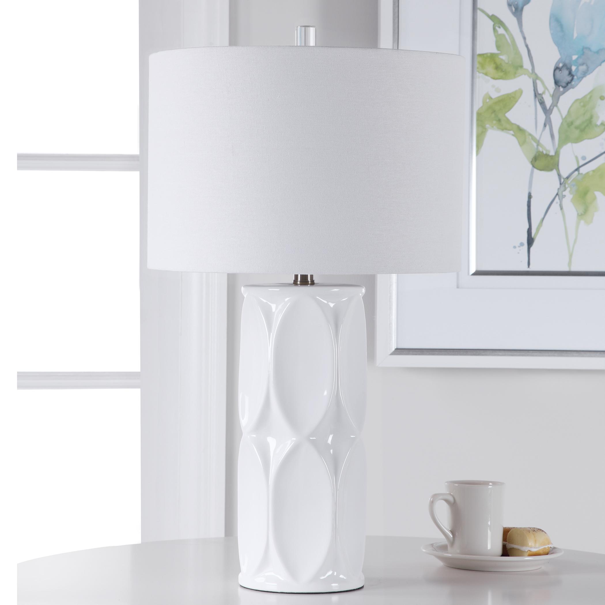 Sinclair White Table Lamp