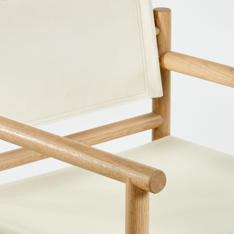 Mast Leather Director's Chair