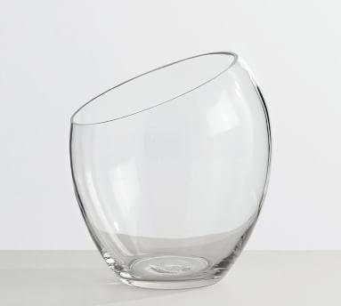 """Skylar Glass Bottle Vase, Clear, 6""""H"""