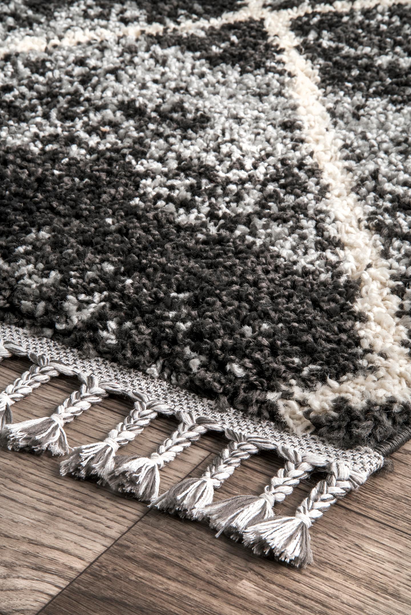 Shannon Moroccan Tassel Shag Area Rug