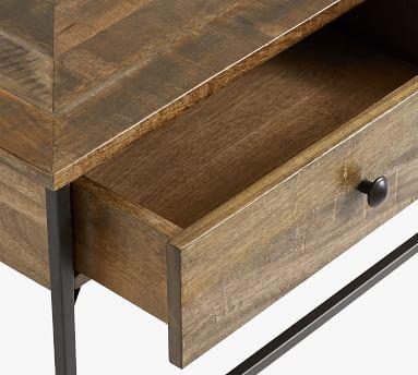 Sanford Rectangular Coffee Table, Cobble Brown