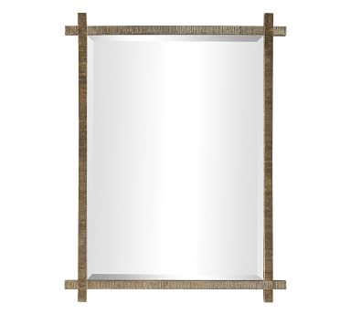 """Point Loma Wall Mirror, Antique Gold, 1.5"""" X 30"""" X 40"""""""