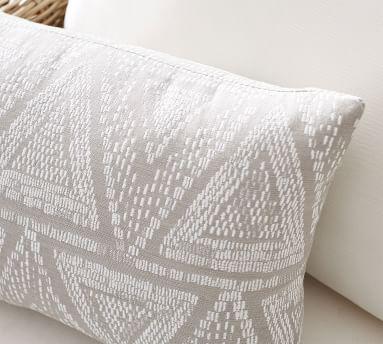 "Sunbrella(R) Woven Triangles Indoor/Outdoor Pillow, 14 x 20"", Black Multi"