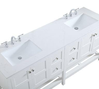 """Reeves 72"""" Double Sink Vanity, Gray"""