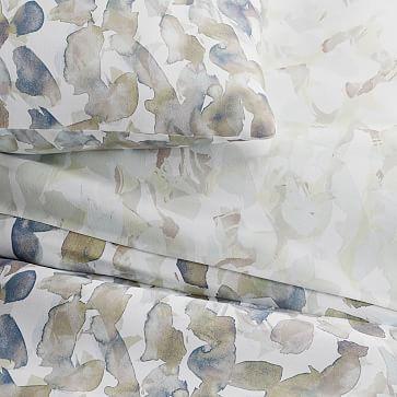Organic Sateen Canopy Duvet, Storm Blue, Full/Queen