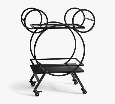 "Disney Mickey Mouse 30.5"" Kitchen Cart, Bronze"