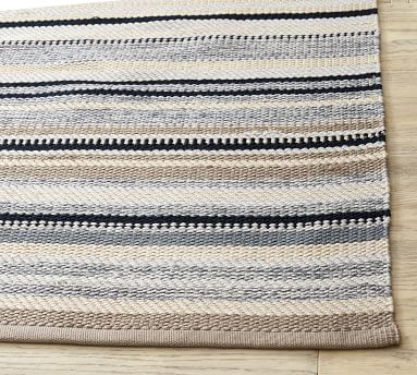 Peterson Striped Eco-Friendly Rug, 8' x 10', Neutral Multi