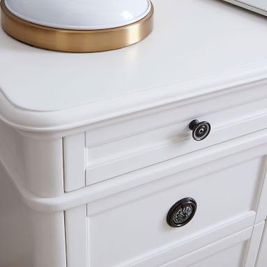Colette Smart Storage Desk, Simply White