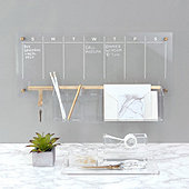 Acrylic Weekly Wall Calendar Bundle   - Ballard Designs