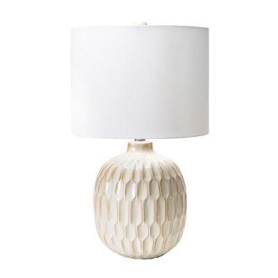 nuLOOM 25 in. Cream Venice Ceramic Indoor Table Lamp