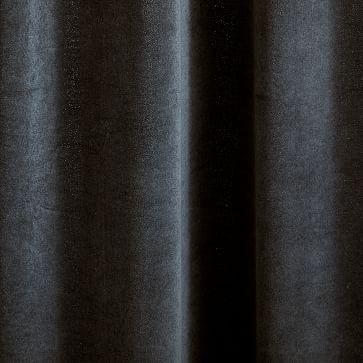 "Cotton Velvet Curtain Stormy Blue 96""-Individual"