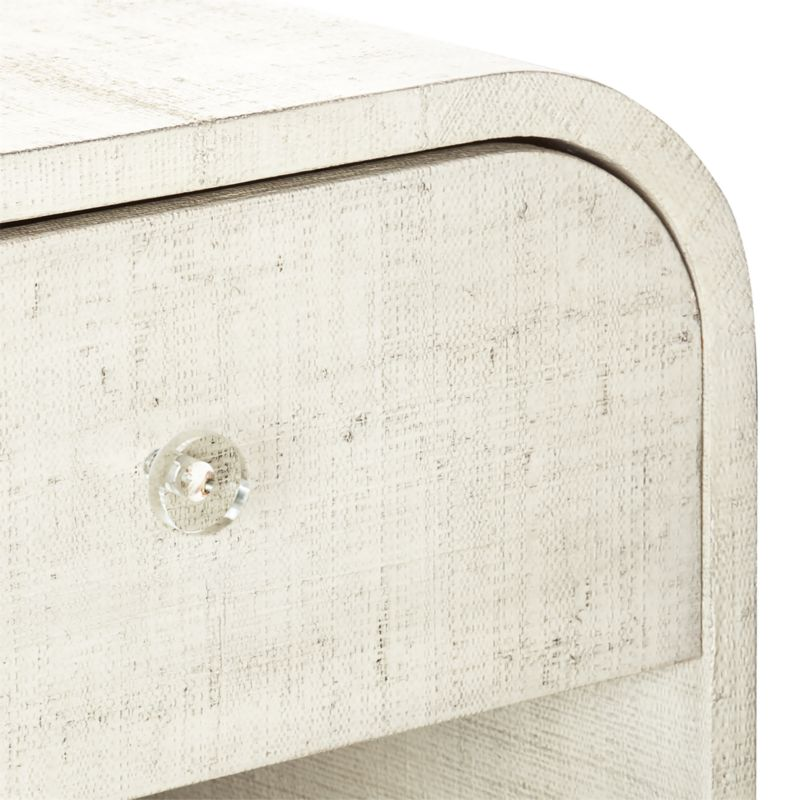 Archer Lacquered Linen Nightstand