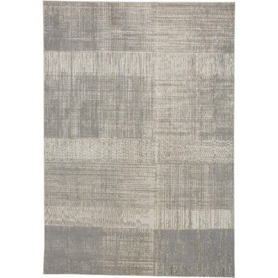 Milomir Abstract Power Loom Gray Area Rug Wayfair