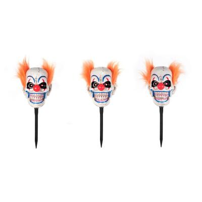 Home Accents Holiday Animated LED Clown Pathway Halloween Markers (3-Pack)