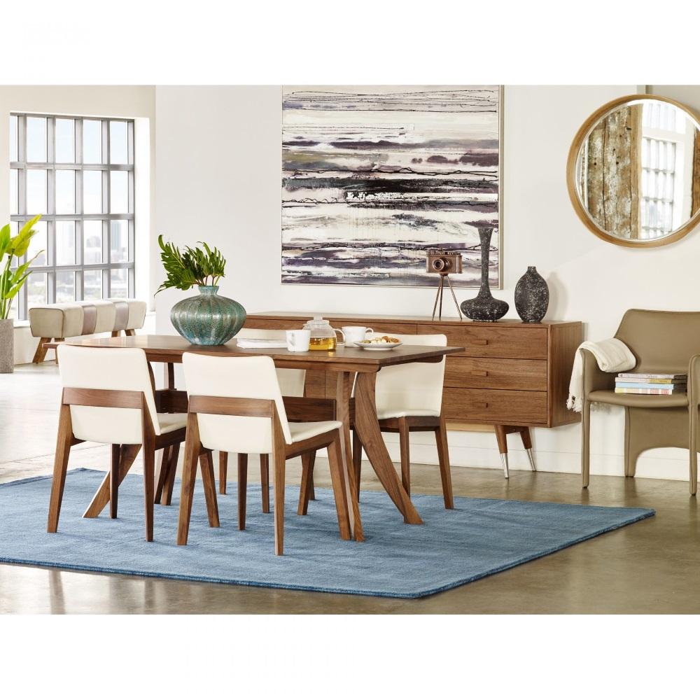 Emmitt Mid Century Modern Brown Walnut Wood Sideboard Buffet - Small