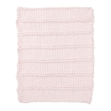 Super Chunky Knit Throw, 45X55, Powdered Blush