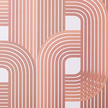 "Drop It Modern Raceway Wallpaper, Amber, 10'H x 28""W"