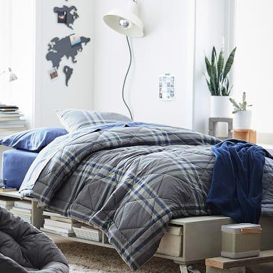 Plush Bed Blanket, Full/Queen, Pale Seafoam