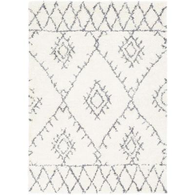 Artistic Weavers Farah Medium Gray/White 5 ft. 3 in. x 7 ft. 3 in. Area Rug