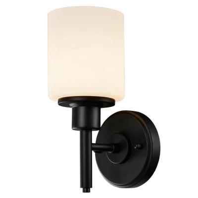 Design House Aubrey 1-Light Matte Black Indoor Wall Sconce