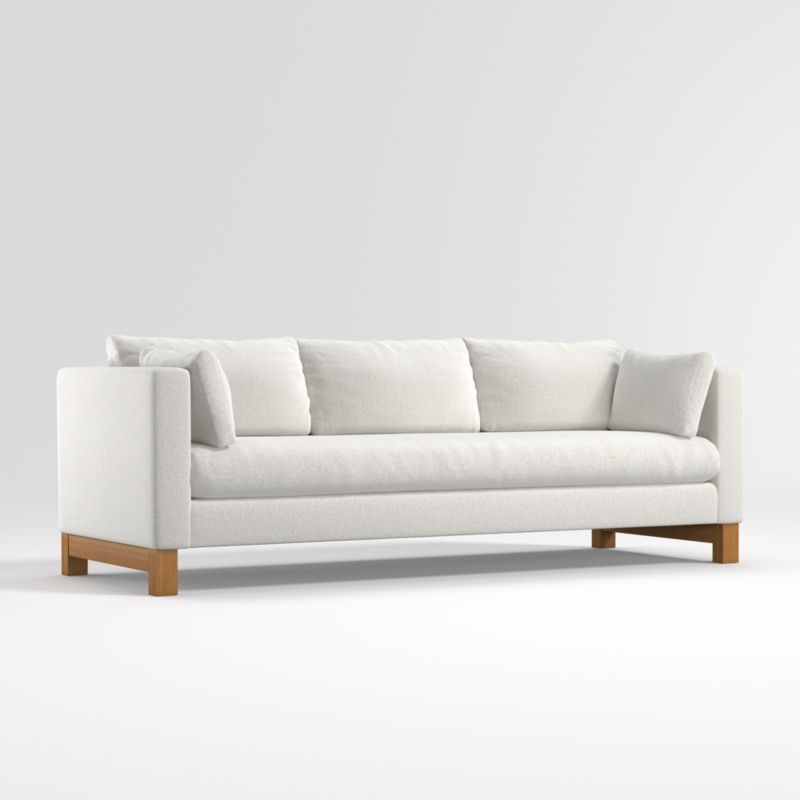 Pacific Bench Track Arm Grande Sofa with Wood Legs