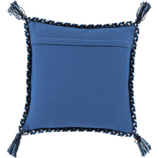 "Azariah Pillow, 22"" x 22"", Blue"