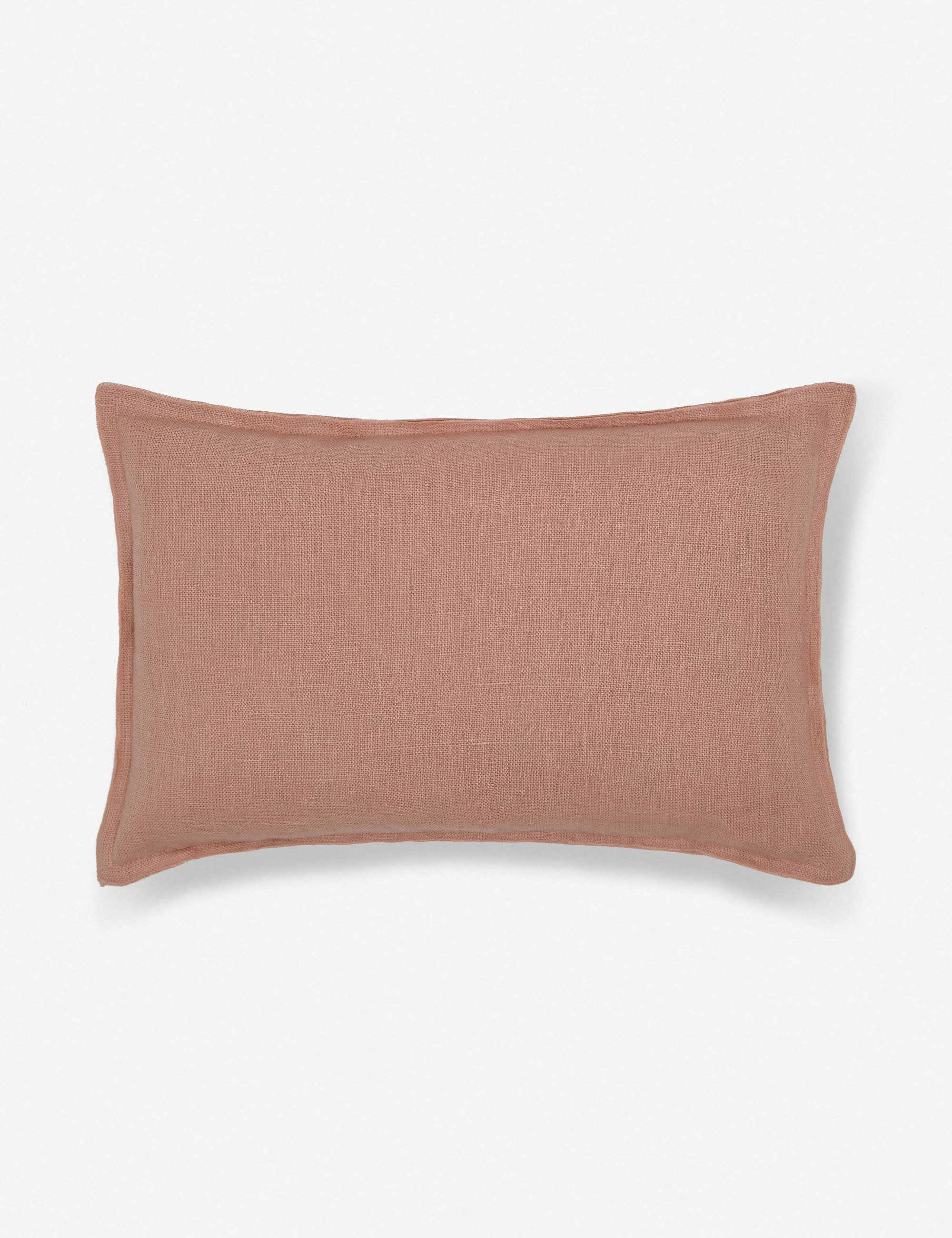 Arlo Linen Lumbar Pillow, Terracotta