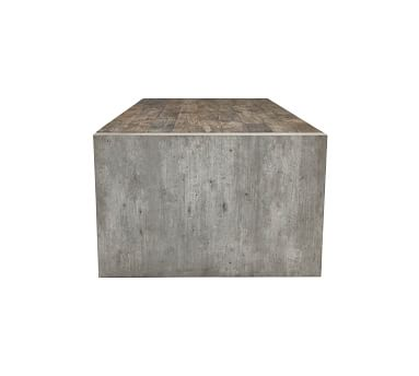"Hernando 62"" Rectangular Reclaimed Wood Coffee Table, Natural"