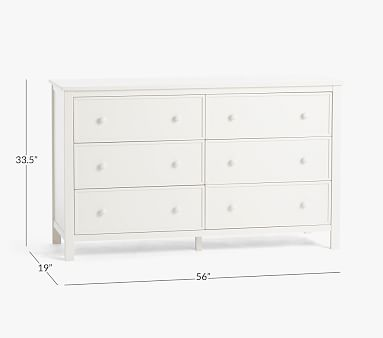 Austen Extra-Wide Dresser, Simply White, In-Home Delivery