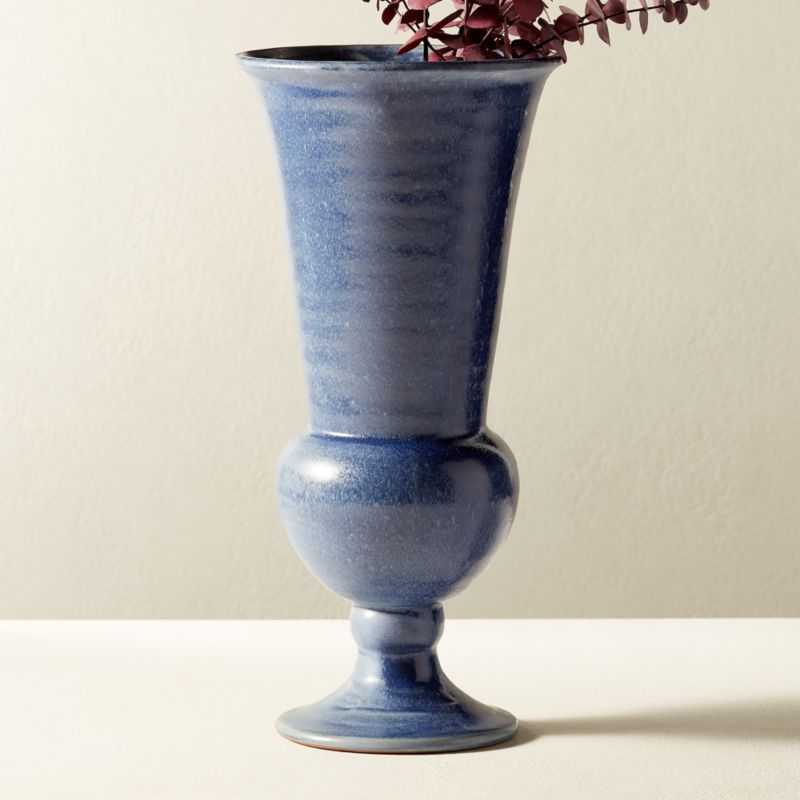 Mandra Blue Terracotta Vase