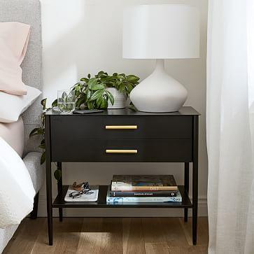 Asymmetry Ceramic Table Lamp, Small, White