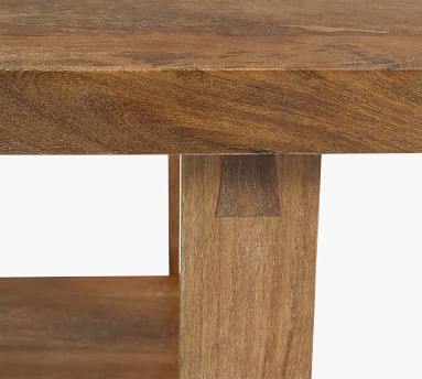 Reed Coffee Table, Antique Umber