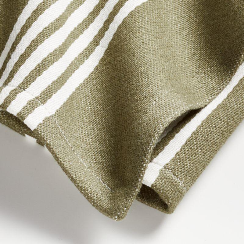 Olive Stripe Dish Towels, Set of 2