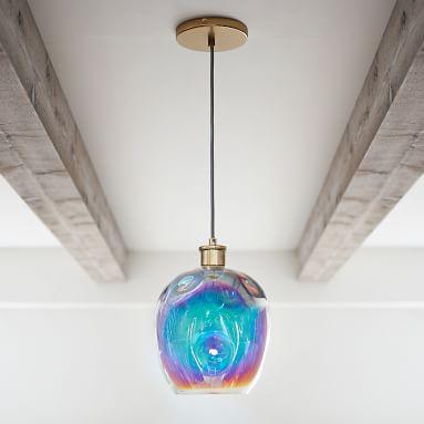 Iridescent Globe Pendant
