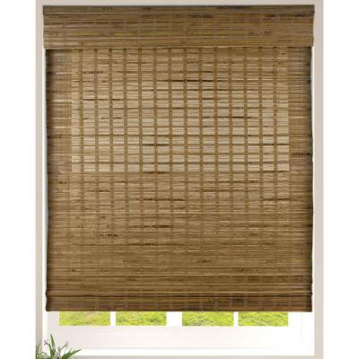 Arlo Blinds Cut to Size Dali Native Cordless Light Filtering Bamboo Woven Roman Shade 35.5 in.W x 60 in. L (Actual Size)