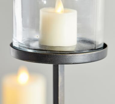 Draper Pillar Candle Holder, Bronze, Large