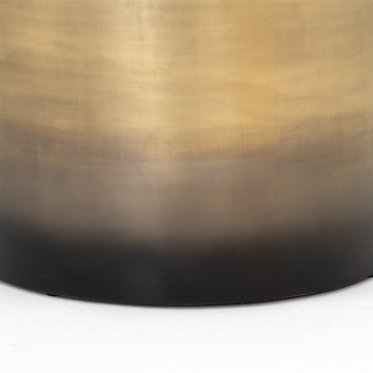 Maddux Modern Classic Antique Gold Ombre Iron Cylinder Coffee Table