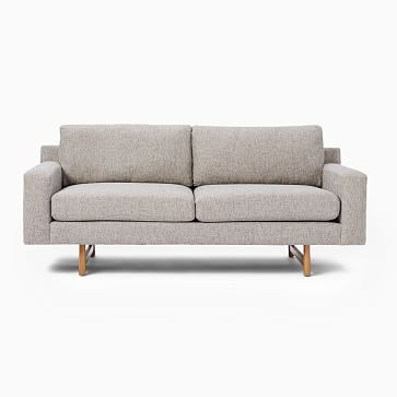 "Eddy 74"" Sofa, Deco Weave, Feather Gray, Almond"