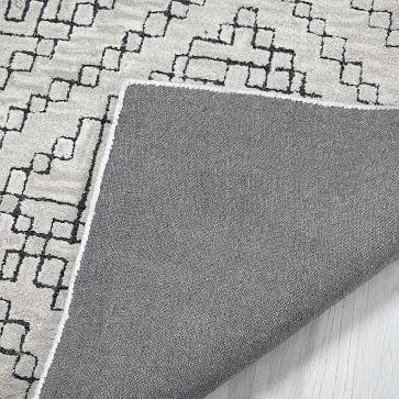Stone Tile Rug, 9x12, Alabaster