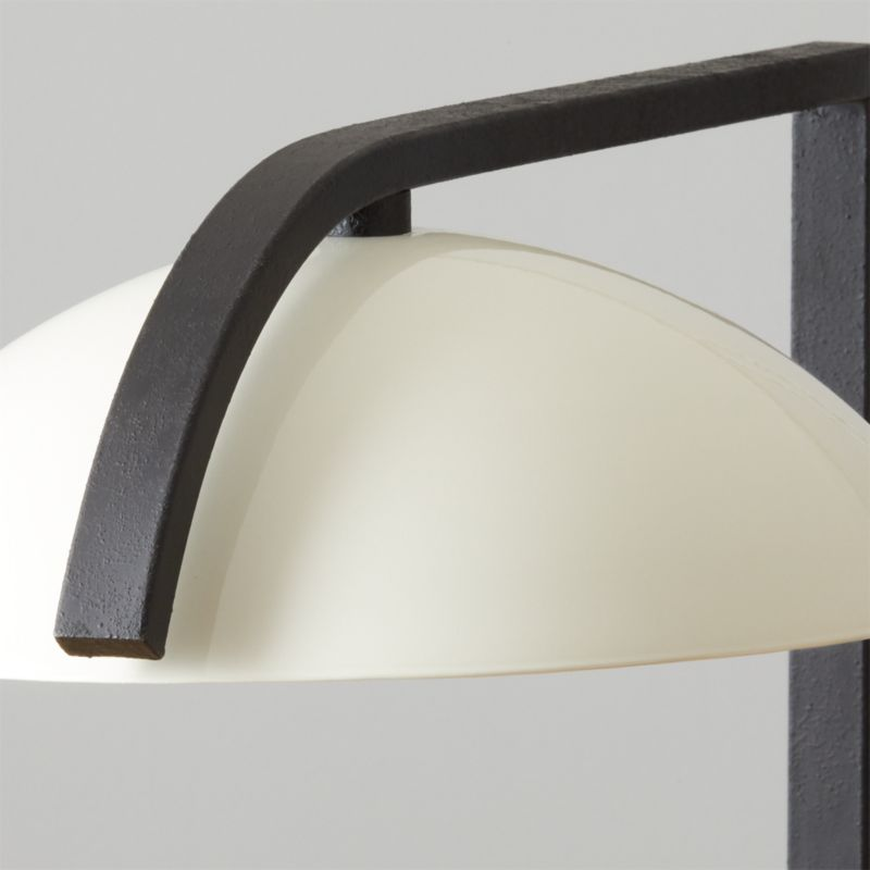 Belgrave White Globe Floor Lamp