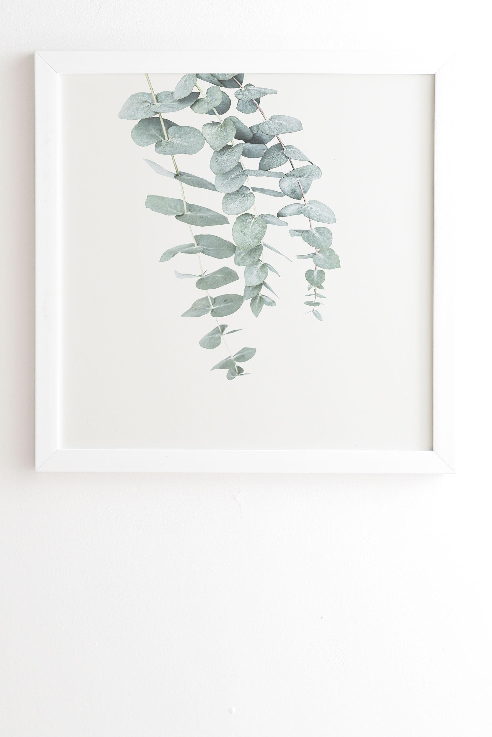 "Mint Eucalyptus Ii by Sisi and Seb - Framed Wall Art Basic White 8"" x 9.5"""