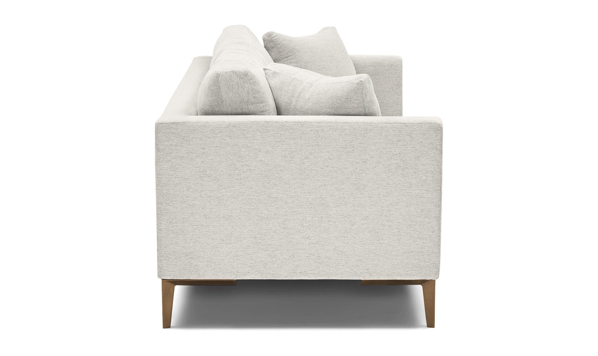 White Ainsley Mid Century Modern Sofa - Tussah Snow