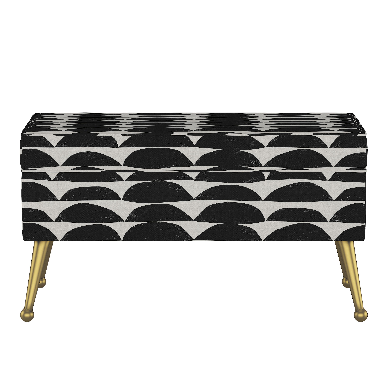 Storage Bench in Halfmoon Black White Oga