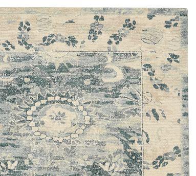 Jema Handwoven Printed Wool Rug, 9 x 12', Blue Multi