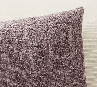 """Journey Chenille Jacquard Lumbar Pillow Cover, 16 x 26"""", Mineral Blue"""