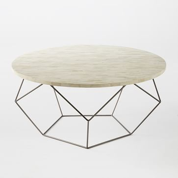 """Origami Oversized Coffee Table, 34""""x18"""""""