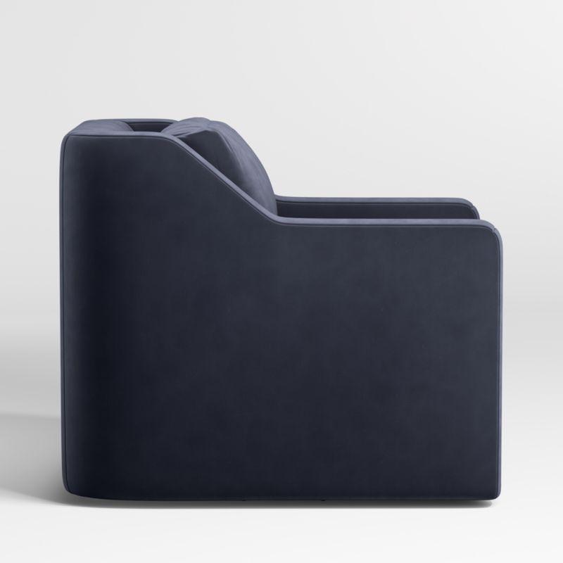 Notch Swivel Chair - Dark Blue